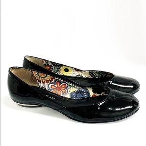 ANTONIO MELANI Black Patent Leather Flats